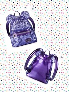 2ff660aa1e9 Image is loading Disney-Parks-Minnie-Mouse-Purple-Potion-Sequined-Loungefly-