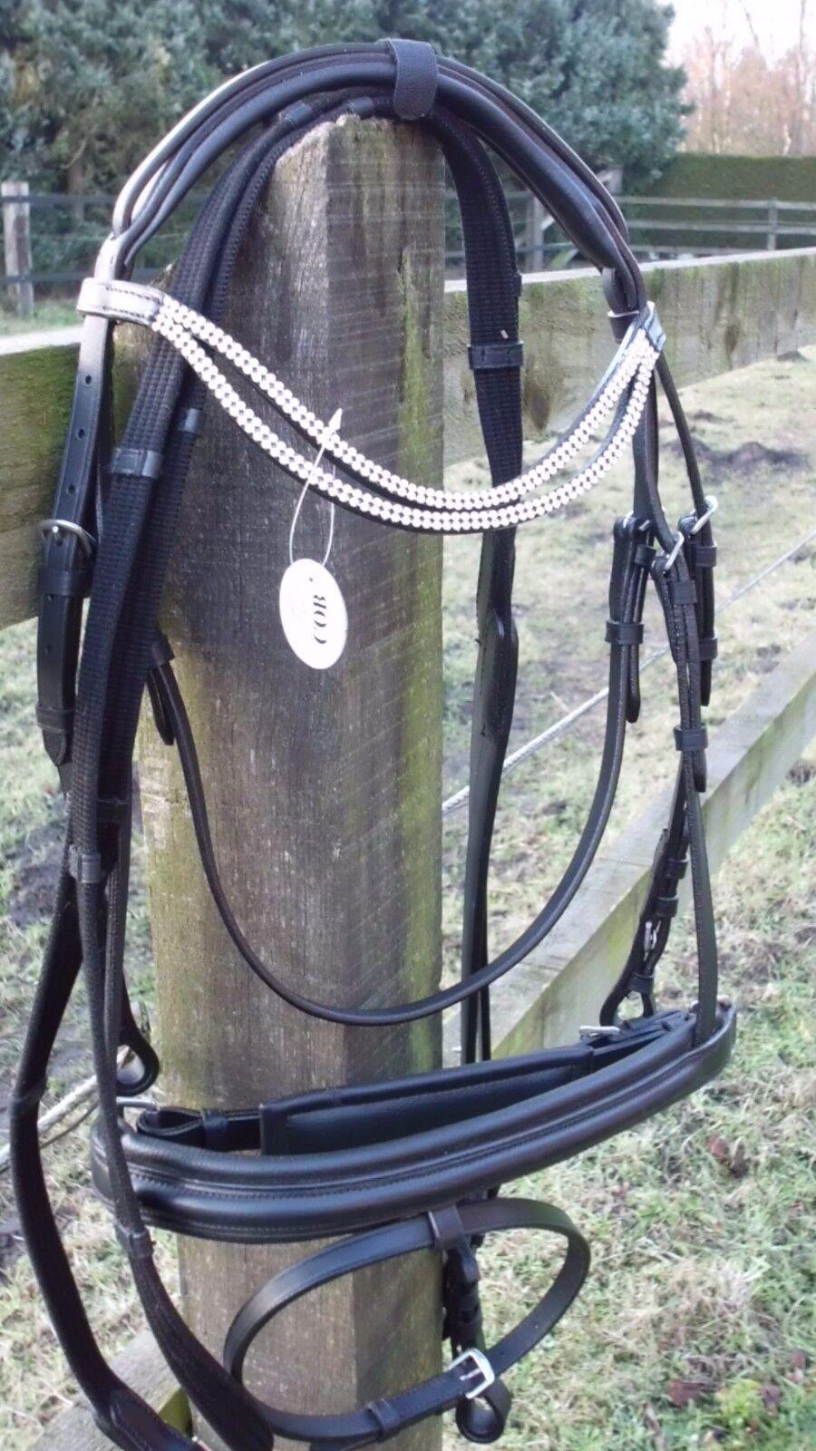 Elegante Trense m.schwedischem Reithalfter Gr. Pony .Schnäppchen Preis