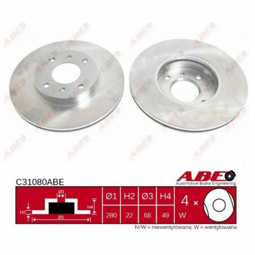 1 piezas Abe c31080abe Disco de freno