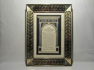 Ancien Cadre Verre Eglomise Gravure Religieuse Initium Sancti Evangelii St Jean Pratique Pour Cuire
