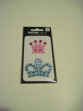 Scrapbooking Crafts Stickers Phone Bling Pink Blue Crowns Gems Me&My Big Ideas