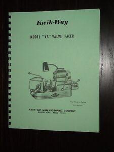 Kwik way valve grinder manual