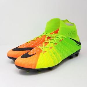 e7e3b98399c2 Nike Hypervenom Phantom 3 III DF AG PRO Soccer Cleats Green Black ...