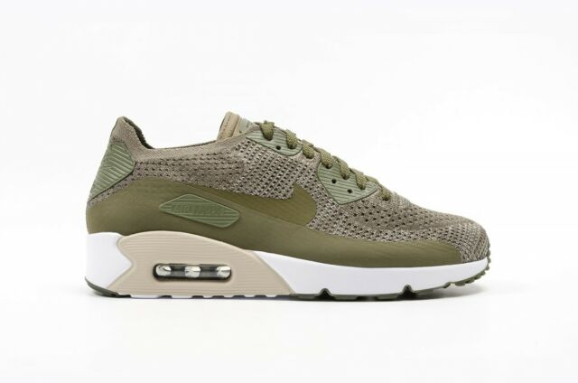 Nike Air Max 90 Ultra 2.0 Flyknit Mens Green Textile Athletic Running Shoes 10