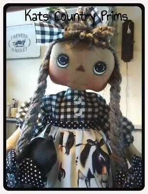 """Primitive Raggedy Ann doll PATTERN 23/"""" Simply Courtney MAILED PATTERN #116"""