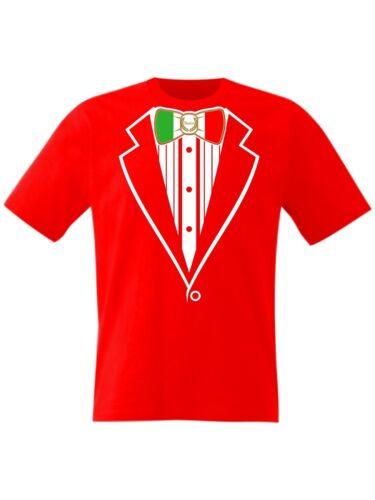 Kids Tuxedo T Shirt Italia Flag Italy Football Rugby Prom Fancy Dress Boys Girls