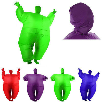 Adult Chub Suit Inflatable Blow Up Full Body Costume Jumpsuit Fat Guy Holiday