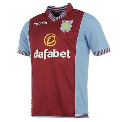 "Genuine Macron Men's Aston Villa Home Shirt 2013- 2014, Size: XXL (46/48"")"