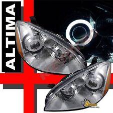 CCFL Halo Angel Eye Projector Headlights Chrome For 2002-2004 Nissan Altima