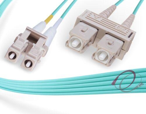 OM3 LC-SC 10Gb 50//125 Multimode Duplex Fiber Optic Cable 5 Meter