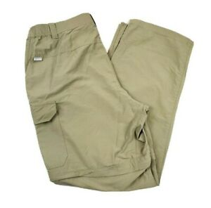 Columbia-Mens-Convertible-2-In-1-Hiking-Outdoor-Pants-Shorts-Beige-Nylon-36x32