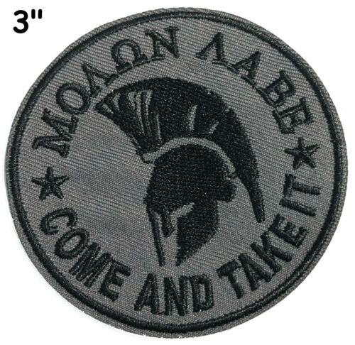 Molon Labe Embroidered Patch Iron-On or Sew-On Military Tactical Motif Applique