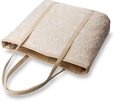 große Damentasche Shopper Bag Handtasche Einkaufstasche Schultertasche Spitze !
