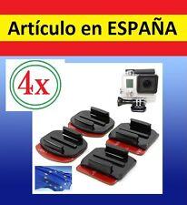 4x Pegatina + Soporte CASCO BICI MOTO Camara accesorios GOPRO HERO 1 2 3+cristal