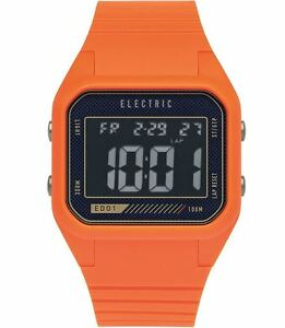 2015-Nib-Uomo-Electric-ED01-PU-Orologio-Arancione-Blast-Retro-Look-Digital-Alarm