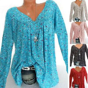 Womens-Boho-T-Shirt-Tunic-Tops-Ladies-Loose-Long-Sleeve-Baggy-Blouse-Plus-Size