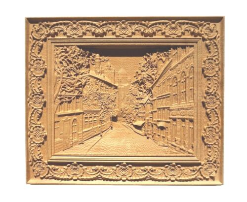 """Sycamore Wood carving Wall Plaque  13/"""" x 11-1//8/"""" x 7//8/""""Thick."""