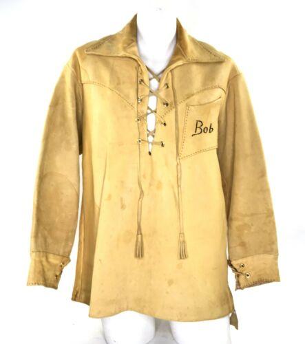 Mens Deer Hide Shirt Leather Homemade Jacobite Ghi