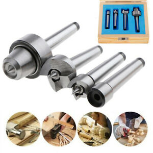 4x MT1 Wood Lathe Live Center Drive Spur Cup Kit Arbor Case Wooden Turning Tools