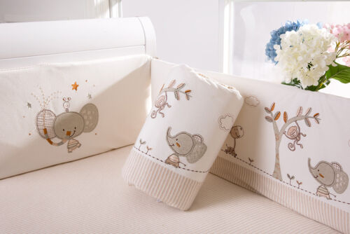 Baby Kid Toddler Cot Crib Bedding Bumpers 100/% Cotton Newborn Gift Gentle Safety