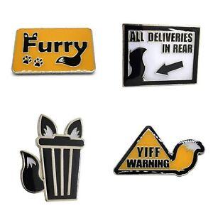 Furry Trash Pin Fur Pride Anthro Lgbt Fursuit Pin Cat Wolf Fox Dog