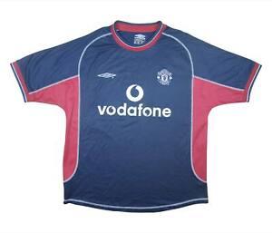 Manchester United 2000-01 Autêntica camisa de terceiros (excelente) Camisa De Futebol M