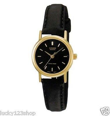 LTP-1095Q-1A 100% Genuine Casio Leather Watch Water Resistant Date Women's