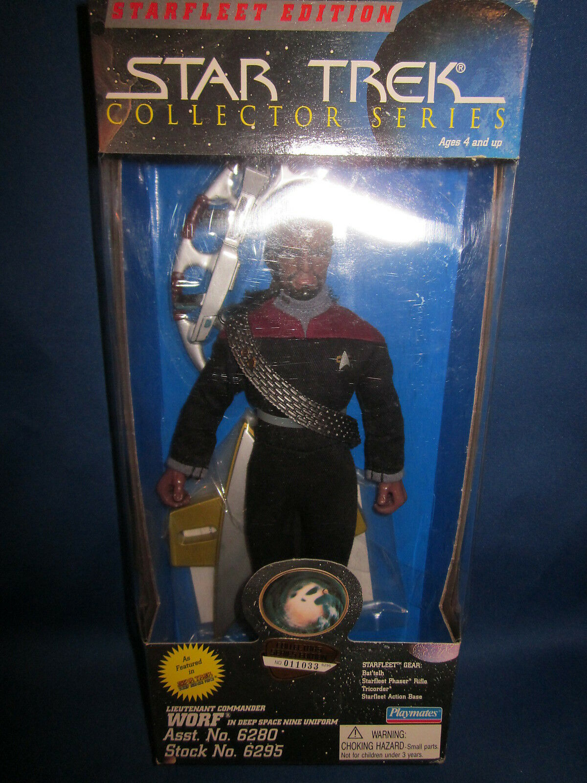 1995 Playmates Star Trek Starfleet Edition Collector Series Worf