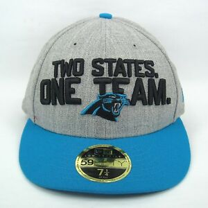 8c8b57b1 Details about New Era Cap Men's NFL Carolina Panthers Team Slogan 5950  Fitted Hat - 7 1/4