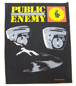 GENUINE-VINTAGE-1989-DEF-JAM-PUBLIC-ENEMY-JACKET-BACK-PATCH-SEW-ON-CLOTH-BADGE