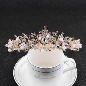 Elegant-Flower-Crystal-Crown-Tiaras-Bridal-Headband-Wedding-Hair-Jewelry