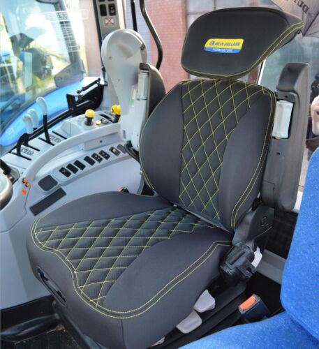 New Holland Tractor Grammer Maximo Dynamic Tailored Seat Cover Black With Logo