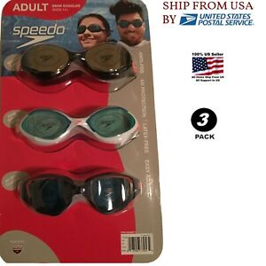 Speedo-Swim-Goggles-Adult-Men-Ryan-Lochte-UV-P-A-F-L-F-3-pack