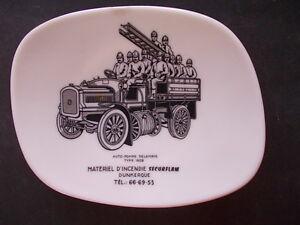 POMPIERS-auto-pompe-DELAHAYE-type-1909-SECURFLAM-ramasse-monnaie-1960-Dunkerque