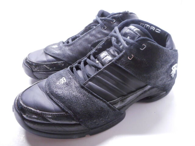 2006 ADIDAS TMAC Tracy McGrady Basketball Sneakers Shoes Black Mens Size 11.5 US
