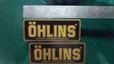 2x Ohlins BLACK & GOLD Decals Stickers Suspension, Bike, Shock, motorcycle STUNT