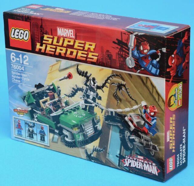 LEGO 76004 - Spider-Man: Spider-Cycle Chase - Super Heroes 2013 MISB Venom Nick