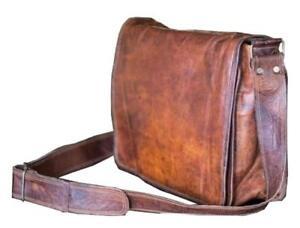 18-034-Men-039-s-Real-Leather-Vintage-Laptop-Messenger-Shoulder-Briefcase-Satchel-Bag