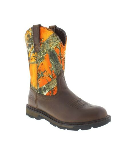 Ariat Men/'s Groundbreak Camo Steel Toe Work Safety Western Boots 10014244