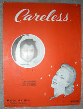 1939 CARELESS Vintage Sheet Music JOAN BROOKS by Quadling, Howard, Jurgens