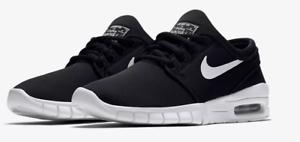 Tessuto Nero Nike New Scarpe Max Brand da Size Bianco Uk Boys Stefan skate 4 Janoski wqUgUxrIX