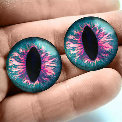 20mm Glass Gothic Sci-fi Dragon Creature Taxidermy Doll Eyeballs Fantasy Supply
