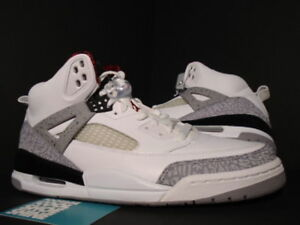 pretty nice 31aa4 328a1 NIKE AIR JORDAN SPIZIKE WHITE CEMENT COOL GREY BLACK FIRE RED 315371 ...