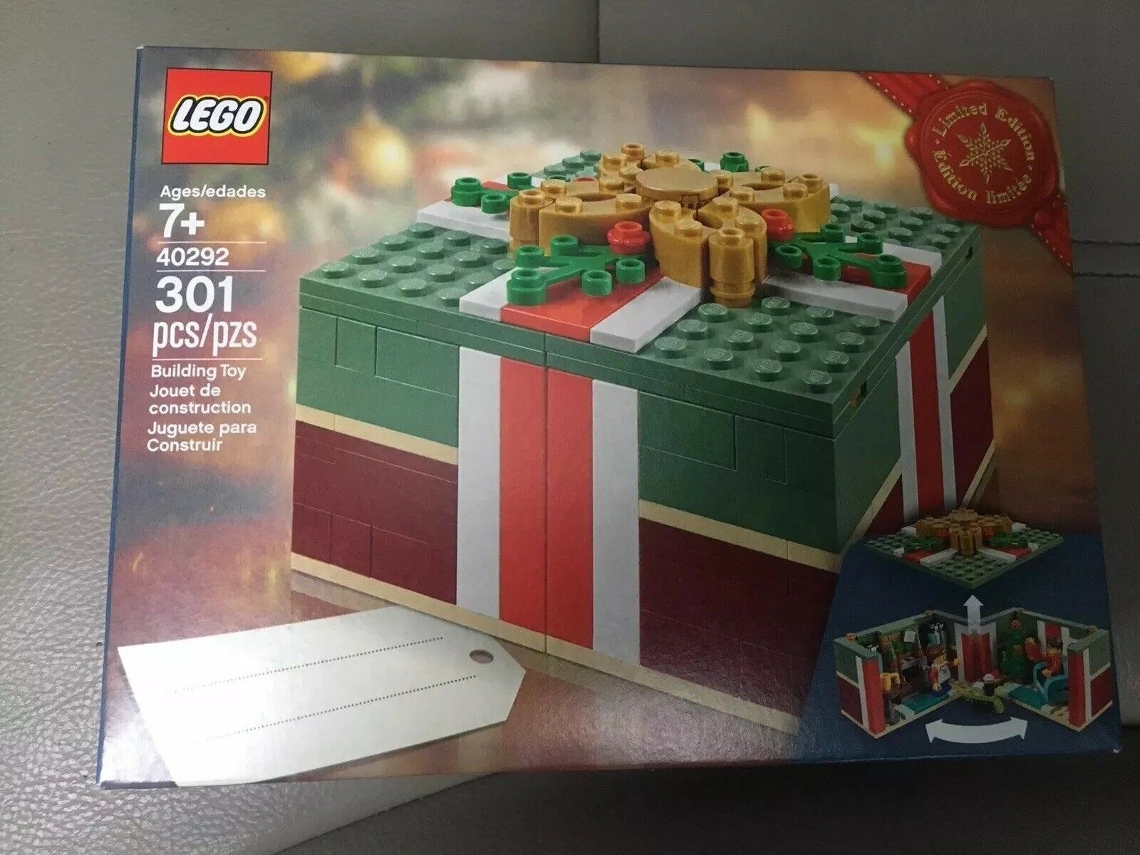 New LEGO Christmas Gift 40292 Buildable Holiday Present Box Exclusive