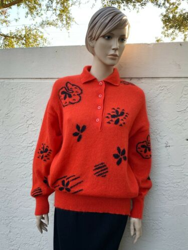 ESCADA MARGARETHA LEY VINTAGE MOHAIR WOOL ORANGE P