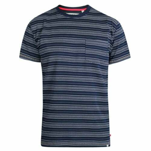 Duke brodé à Rayures T-Shirt Poche Poitrine 100/% coton Taille XXL à 6XL