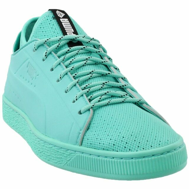 info for 43961 0f98c PUMA X Diamond Basket Sock Lo Mens Blue Textile Lace up SNEAKERS Shoes 9.5