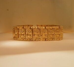 14K Gold Plated Our Lady of Guadalupe 20mm wide bracele