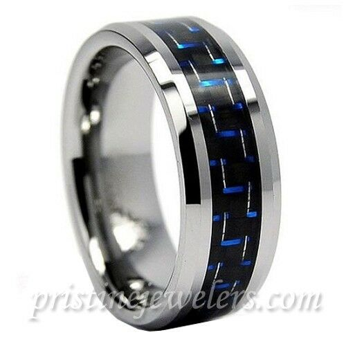 Tungsten Carbide Ring Wedding Band Mens Jewelry Gold Black Silver Celtic Dragon