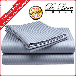 BED-SHEET-SET-Deep-Pocket-Fitted-Flat-4PCS-100-COTTON-KING-SIZE-Sheets-NEW